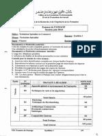 Examen de Passage Commerce Tsc 2014 Synthese 1