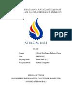Tugas Analisis Bahasa Indonesia