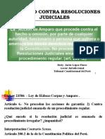 Clase- Amparo Contra Resolucion Judicial