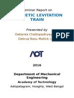 Seminar Report on MAGLEV