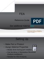 FEA Reference Guide