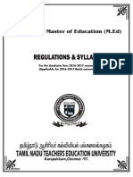 2. m.ed - Regulations & Syllabus 2016-2017 teu