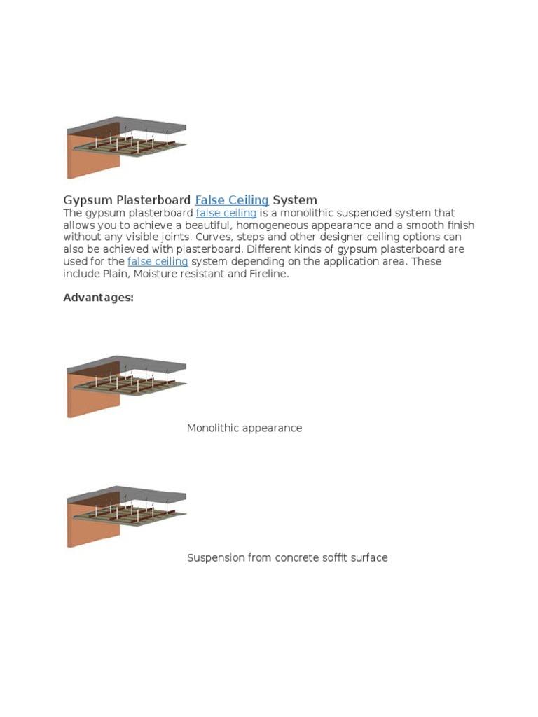 Gypsum Plasterboard Drywall Ceiling