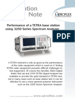 Performance of ATETRA Base Station Using 3250 Series Spectrum Analyzer App Note