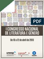 Anais Congresso Literatura e Gênero UNESP 2013