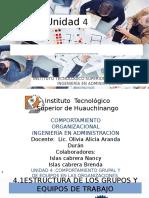 U4 COMPORTAMIENTO ORGANIZACIONAL