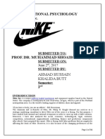 Nike Project Report