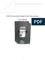SG200 Series Single Phase Solar Inverter User Manual