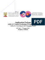 Application Form for Asean Youth Lead 2017