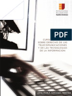 Derecho de Las Telecomunicaciones y de Las Tecnologías de La Información - Chillon Medina