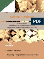 [Kuliah 6] Critical Review