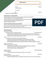 addi freiner teaching resume