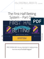 The First-Half Betting System - Part One - Win Bets