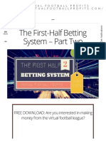 The First-Half Betting System - Part Two - Value Bets