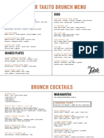 Bar Takito Brunch Menu