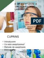 Metode de Aseptizare a Instrumentarului de Laborator