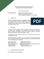 Informe Informe de Simulacro de Sismo Realizado El Dia 26 de Octubre de 2016 en El Sena Sede Tame