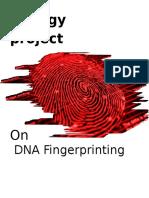 Biology  project on dna fingerprinting