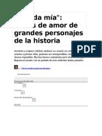 Amada Mía Cartas de Amor de Grandes Hombres de La Historia