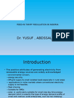 Feed-In Tariff Regulation in Nigeria