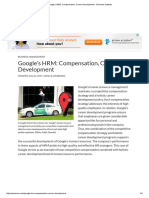 Google's HRM_ Compensation, Career Development - Panmore Institute
