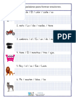 Ordena Palabras Para Formar Oraciones Con Ayuda Visual (1)
