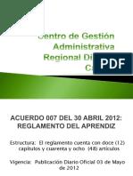 Nuevo Reglamento del Aprendiz VERSION FINAL 2012.pptx