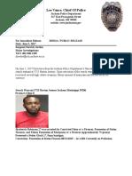 Broderick Robinson 2017 Arrest