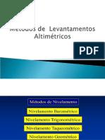 Tipos de Levantamentos Altimétricos