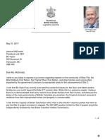 John Horgan's Letter to BC Hydro
