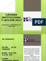 Cátedra Institucional y Lección 2017