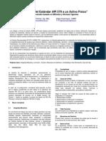 Aplicación Del Estandar API 579 a Un Activo Físico