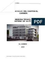 Memoria Tecnica Edificio g.a.d Del Carmen