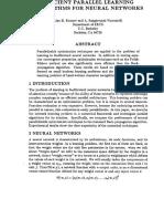 134 Efficient Parallel Learning Algorithms for Neural Networks
