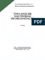 Uma Análise Das Teorias Das Organizações - FGV - Livro