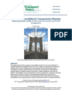 Evaluating Accessibility for Transport Planning
