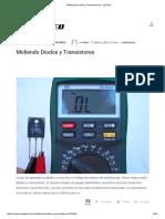 Midiendo Diodos y Transistores - NeoTeo