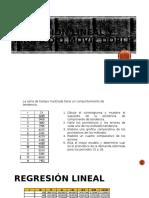 Regresión Lineal y Promedio Móvil Doble