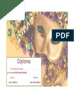 Diploma Carnaval