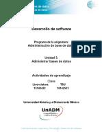Unidad 3 Actividades de Aprendizaje Dabd u3