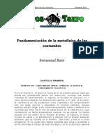Kant, Emmanuel - Fundamentacion De La Metafisica De Las Costumbres.doc