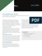 Dell PowerEdge R230 SpecSheet Final