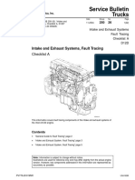 Intake and Exhaust Systems, Fault Tracing
