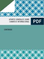 Apuntes Generales Sobre Comercio Internacional