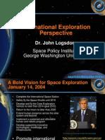 NASA 164269main 2nd exp conf 09 InternationalExplorationPerspective DrJLogsdon