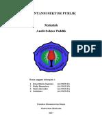 Cover, Kata Pengantar, Dan Daftar Isi Makalah Audit Sektor Publik