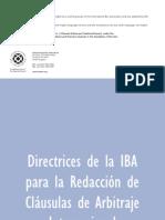Directrices IBA Para La Redaccion de Clausulas de ACI
