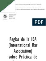 Reglas IBA Sobre Practica de La Prueba en El ACI