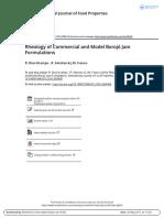Rheology of Commercial and Model Boroj Jam Formulations