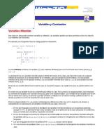 Tutorial de Java - Variables y Constantes